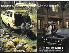 SUBARU SALOON, COUPE, ESTATE AND GFT GRAND TOURER SALES BROCHURE 1978 ENGLISH