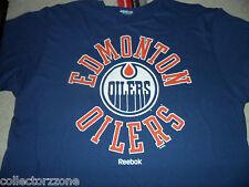 NEW - NHL -REEBOK EDMONTON OILERS - TEAM SHIRT -  LARGE - DARK BLUE