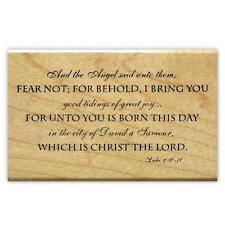 luke 2 10 11 mounted rubber stamp christian christmas bible verse 7 - Best Christmas Bible Verses
