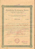 Dibru-Sadiya Tea Company > Calcutta India bond certificate 100 Rupees share