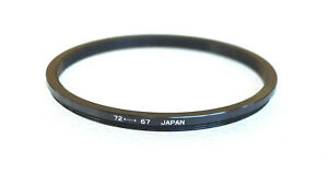 72-67mm Step-Down Ring Adapter - 72mm-67mm Stepping Ring - Japan - NEW
