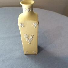 "Wedgwood primrose jasperware 5 1/2"" square bud vase with prunus design  1970's"