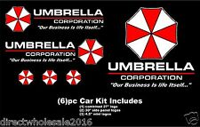 Umbrella Corporation Resident Evil Car Decal Kit 6pc Huge High Quality Hood