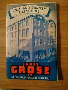 1930's British Cycle Catalogue James Grose vintage bicycle catalogue