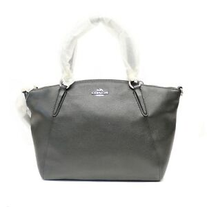NEW Coach Signature Outline Leather Small Kelsey Satchel Bag