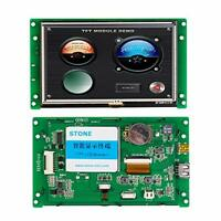 STONE 5.0 Inch HMI TFT LCD Display Module with EMbedded System+Metal Frame