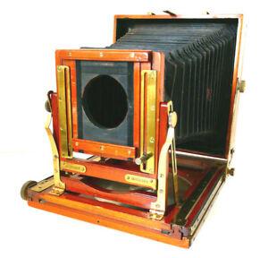 BRITISH MADE Mahogany Field Camera HALF PLATE