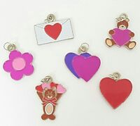 Valentines Day Charms Set of 6 Scrapbooking Embellishment Love Heart Bear Crafts