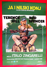 I'M fFOR THE HIPPOPOTAMUS 1981 BUD SPENCER TERENCE HILL AFRICA EXYU MOVIE POSTER