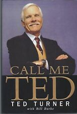 "TED TURNER SIGNED ""CALL ME TED' HCB BOOK AUTOGRAPH JSA COA"