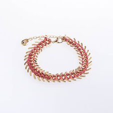 Holland bracelet red & gold statement festival Design 6 London spikes punk