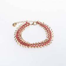 Holland bracelet red & gold statement festival Design 6 London spikes punk