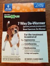 SENTRY Worm-X Plus for Puppies & sm dogs to 25lbs (6 tabs) EXP. 04-2019