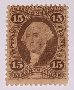 Travelstamps: 1862-71 US  Stamps Scott #R40c Inland Exchange Used NG 15 cents