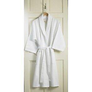 Bathrobe - Luxury Cotton Waffle Kimono Style