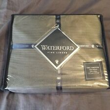 Waterford Fine Linens Dimitrios Two Drapes 50x84 Pole Top Charcoal Curtains New