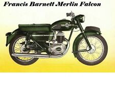 FRANCIS BARNETT MERLIN FALCON Operation Parts Manual w Motorcycle Service Repair