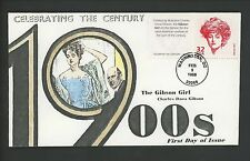 US FDC #3182m NGRM NIM 1998 DC CTC Celebrate Century Gibson Girl HP Hand Painted
