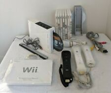 White Nintendo Wii Console RVL-001 Bundle w/ 7 Games Cables Nunchuck Controllers