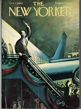 1960 New Yorker Cover October 1 -Republican Candidate for President at LaGuardia