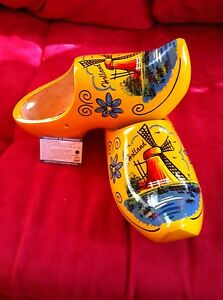 Dutch Wooden Clogs   Yellow Mill size 28-29 = 18 cm many sizes available