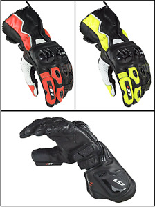LS2 Swift Racing & Sports Motorcycle Motorbike Leather Protection Gloves