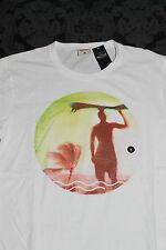 TOP HOLLISTER Camisa Para Hombres Blanco de colorido Estampado Talla M