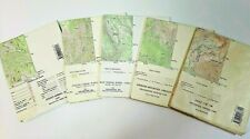 Vintage Lot of 5 Wa & Or U.S. Geological Survey Topographic Maps 7.5 Minute