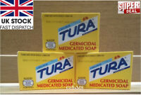 New Tura Original Germicidal Medicated Wash Shower Cleanse Tone Skin Body Soap