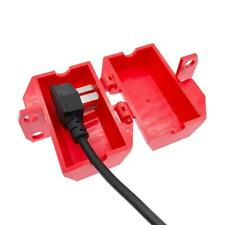 Electrical Plug Lockout Box Plastic Tag Out Device Safety Tools
