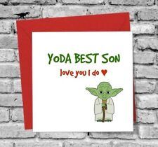 DINOSAURCARDS GREETINGS CARD SON I LOVE YOU FUNNY HUMOUR YODA BIRTHDAY XMAS