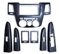Carbon grain dash Kit For Toyota Hilux 05-11 interior trim mk6 vigo sr5 05-11 4D