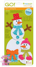 55321- Fun Accuquilt GO! Holiday Accessories Gift Bow Die Circles Snowman Carrot