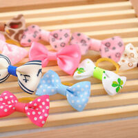 50 pcs Assorted Pet Cat Dog Hair Bows with Rubber Bands Grooming·Accessories