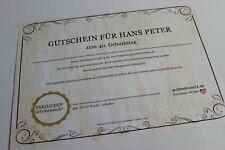 Originelle Geschenkidee: 1 Gutschein für die Jahrgangszeitung zum Geburtstag