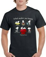 Snoopy Funny What Makes Me Happy  Mens Unisex Peanut Gang T-shirt Gift Present