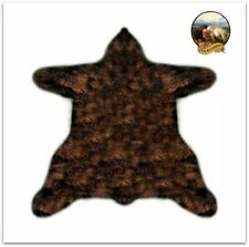 Sierra Bear Skin Pelt Rug /Thick Shag  Faux Fur Throw / Brown