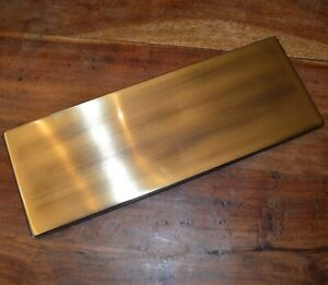 Large Antique Aged Brass Inner Door Letter Flap Tidy & Draft Excluder XL2012B