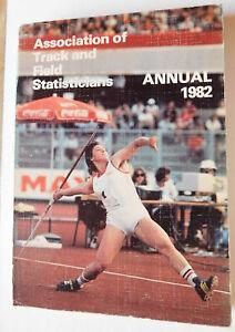 1982 ATFS International Athletics Annual Track Field 1981 Lists Denmark Edition