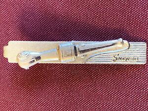 Vintage Air Ratchet Snap-on Tools Tie Clip Silver Metal Mechanics Jewellery