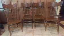 Dragon Carved Antique Oak Dining Chairs (4 of set)