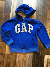GAP Fleece Zip Up Hoodie Blue Size 6