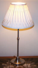 Laura Ashley Silvertone Table Lamp With Cream Laura Ashley Shade