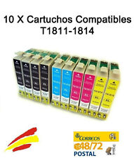 10 tintas COMPATIBLES NON OEM para Epson Expression Home XP-405 XP405