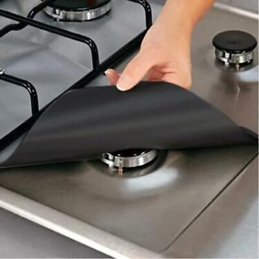 1 Piece Kitchen Tools Mat Pad Clean Tool Gadgets Stove Reusable Mat Cover