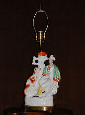 19th Century Staffordshire Spill Vase Mounted as a Lamp