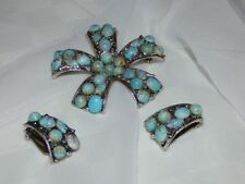 Silver Plated Turquoise Vintage & Antique Jewellery