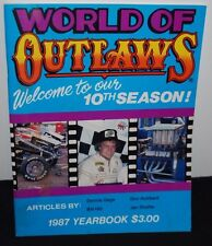 World Of Outlaws Sprint Car Racing 1987 YearBook Cars Magazine 10th Season