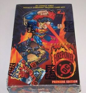 DC Comics Outburst Firepower Trading Cards Box of 36 Packs Skybox 1996 Sealed