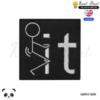 F#ck it Logo Saying Bikers Embroidered Iron On Sew On PatchBadge